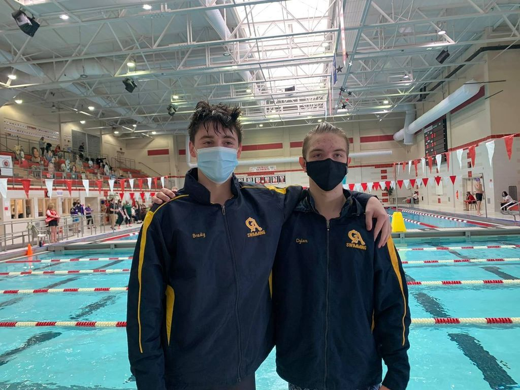 swim team members Brady and Dylan